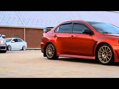 Mitsubishi Lancer Evolution Taste the Rainbow - YouTube