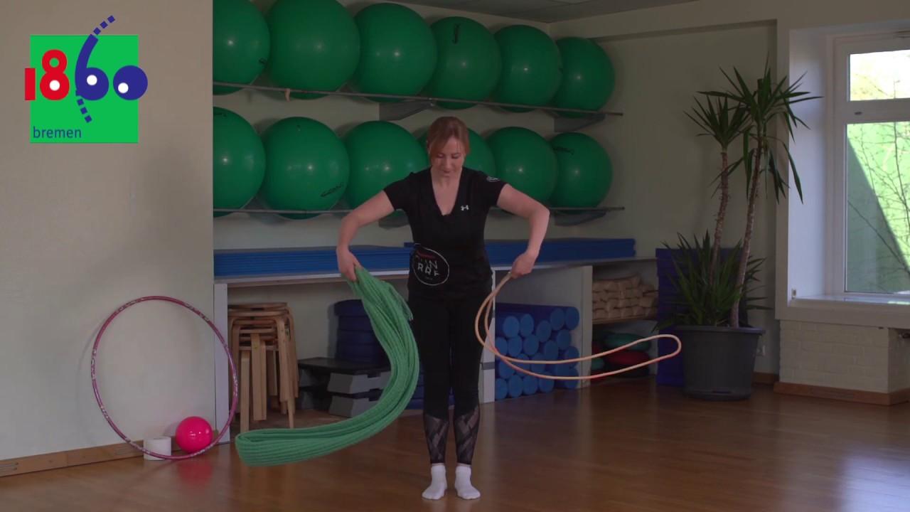 Rhytmische Sport Gymnastik für Anfänger mit Aleks - YouTube