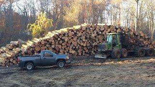 episode 4 logging hardwood tie logs in the winter