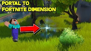 How To Make A Portal To The Fortnite Dimension in Minecraft