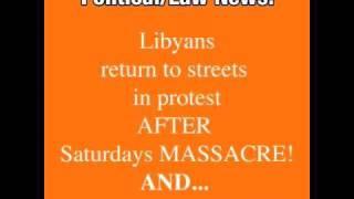 NEWS BULLETIN - Libya MASSACRE and CHINA PROTESTS!