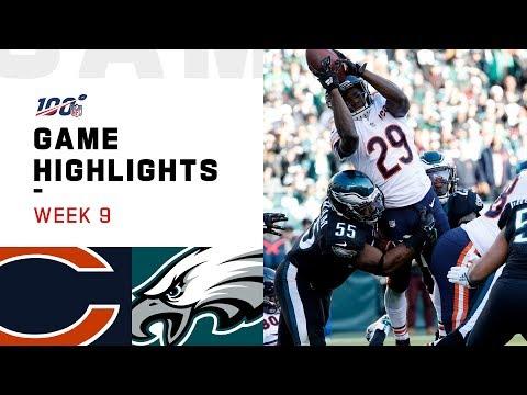 Bears Vs. Eagles Week 9 Highlights | NFL 2019