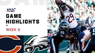 Bears vs. Eagles Week 9 Highlights | NFL 2019