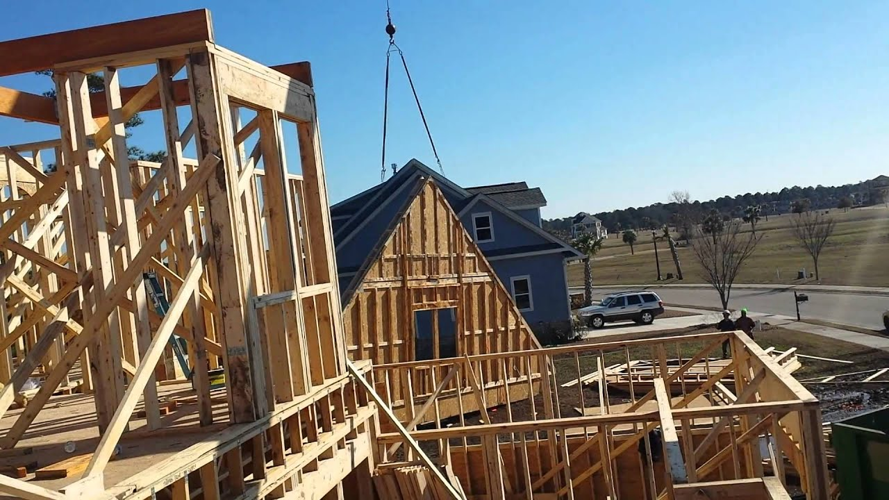 How To Lift A Gable End Truss Youtube