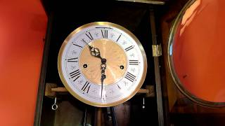 German Triple Chime Wall Clock W/ Jauch Movement / Whittington Chime And Striking.mov
