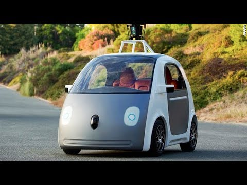 google car is self driving has no steering wheel video youtube. Black Bedroom Furniture Sets. Home Design Ideas