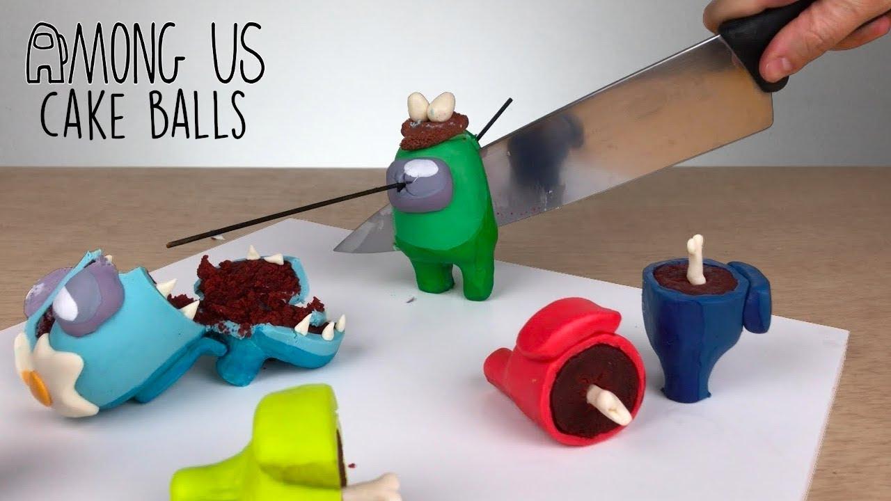 HOW TO MAKE 'AMONG US' CAKE BALLS