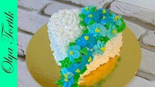Цветы из крема Как украсить торт кремом МК /// Olya Tortik Домашний Кондитер