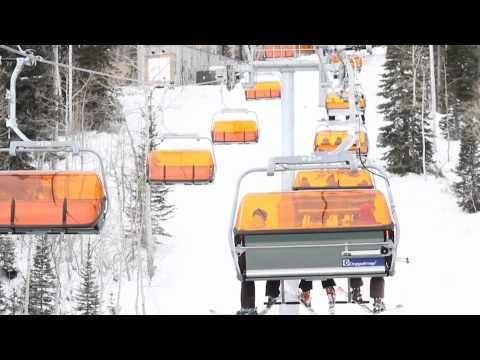 First heated chairlift @ Canyons Ski Resort in Utah