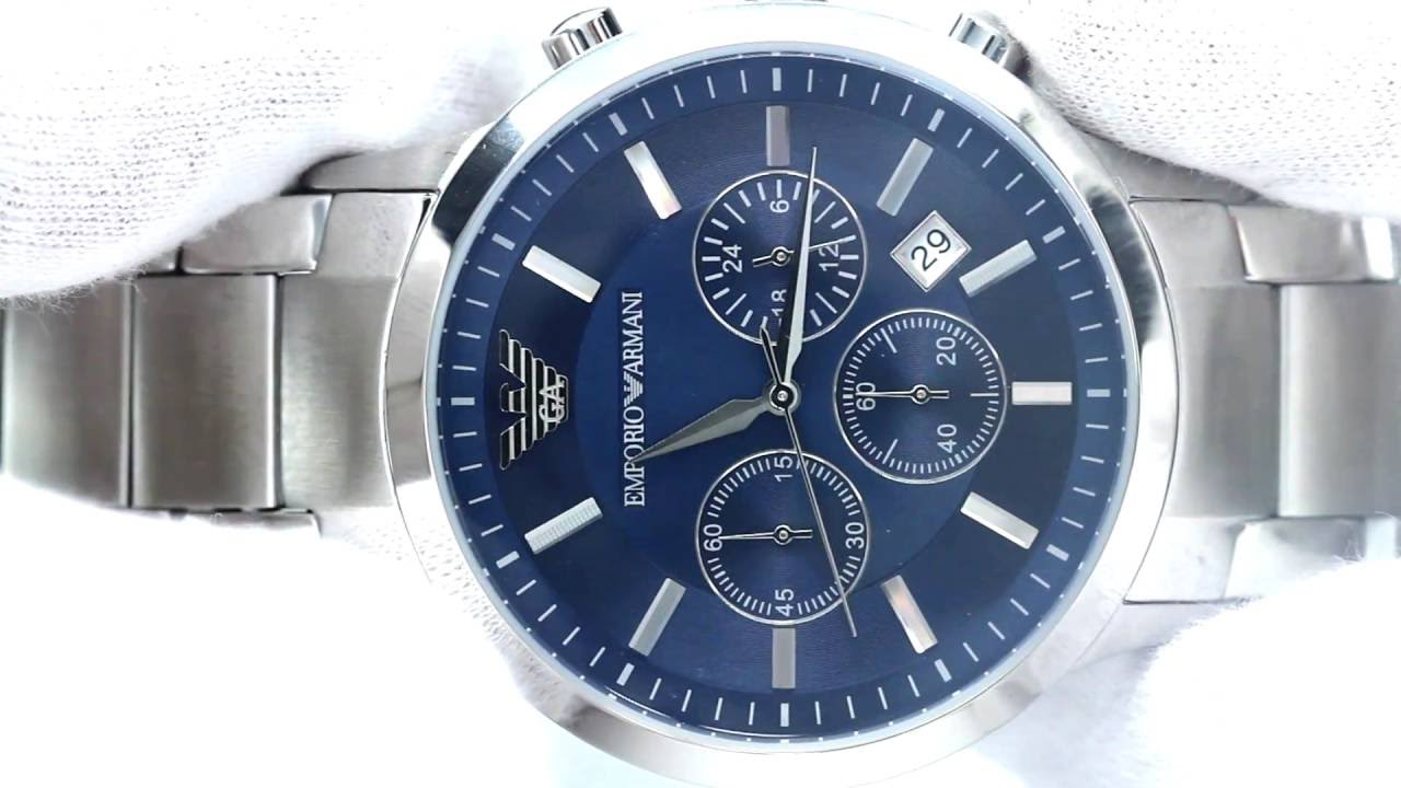 51f4263dcea4 Hands On With The Men s Emporio Armani Watch AR2448 - YouTube