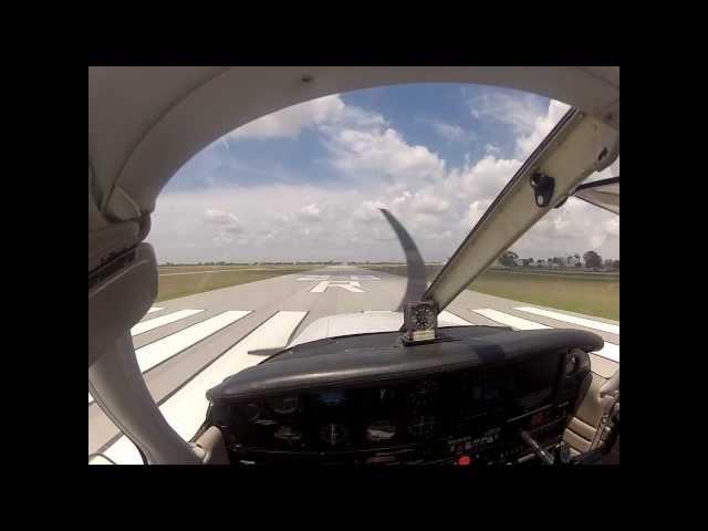 Piper Warrior Landing at Hollywood North Perry, FL April 2013