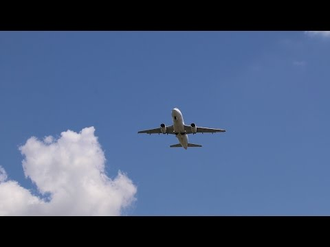 Airbus A320 Fly By - Royalty Free HD Stock Video Footage.