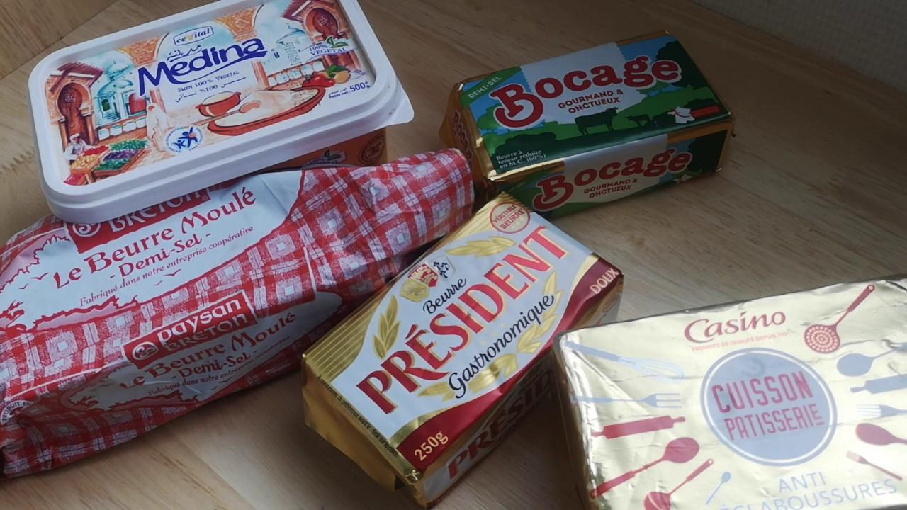 الفرق بين الزبدة والمارغارين الخاصة بالتوريق , للصابلي ولكريمات والحشو والأنواع التي أستخدم في فرنسا