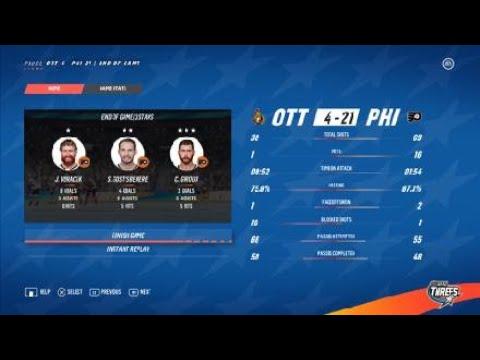 NHL 19 Threes Ottawa Senators vs. Philadelphia Flyers