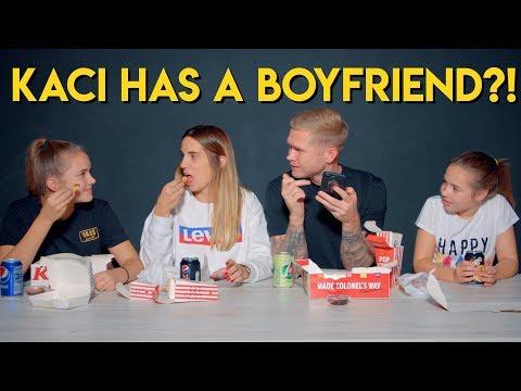 KFC FAMILY MUKBANG - Q&A - Kaci Tells Dad she has a boyfriend 😱