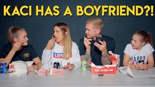 KFC FAMILY MUKBANG - Q&A - Kaci Tells Dad she has a boyfriend 😱