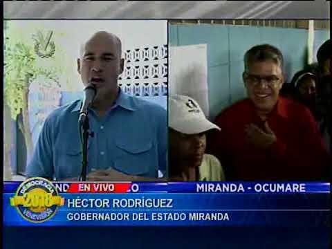 Gobernador Héctor Rodríguez invitó a toda la población de Miranda a votar