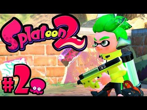 Splatoon 2 - Single Player PART 2 - Switch Gameplay Walkthrough - Story Mode: World 2 + Hero Dualies
