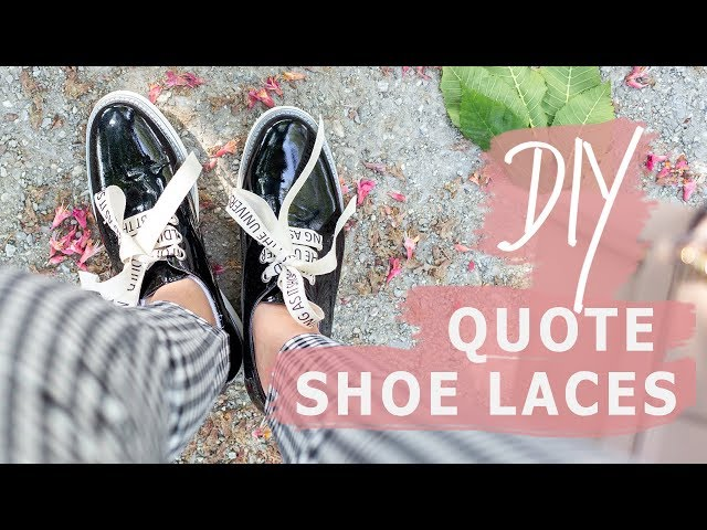 DIY Personalised Shoes & Laces | Sofia Clara