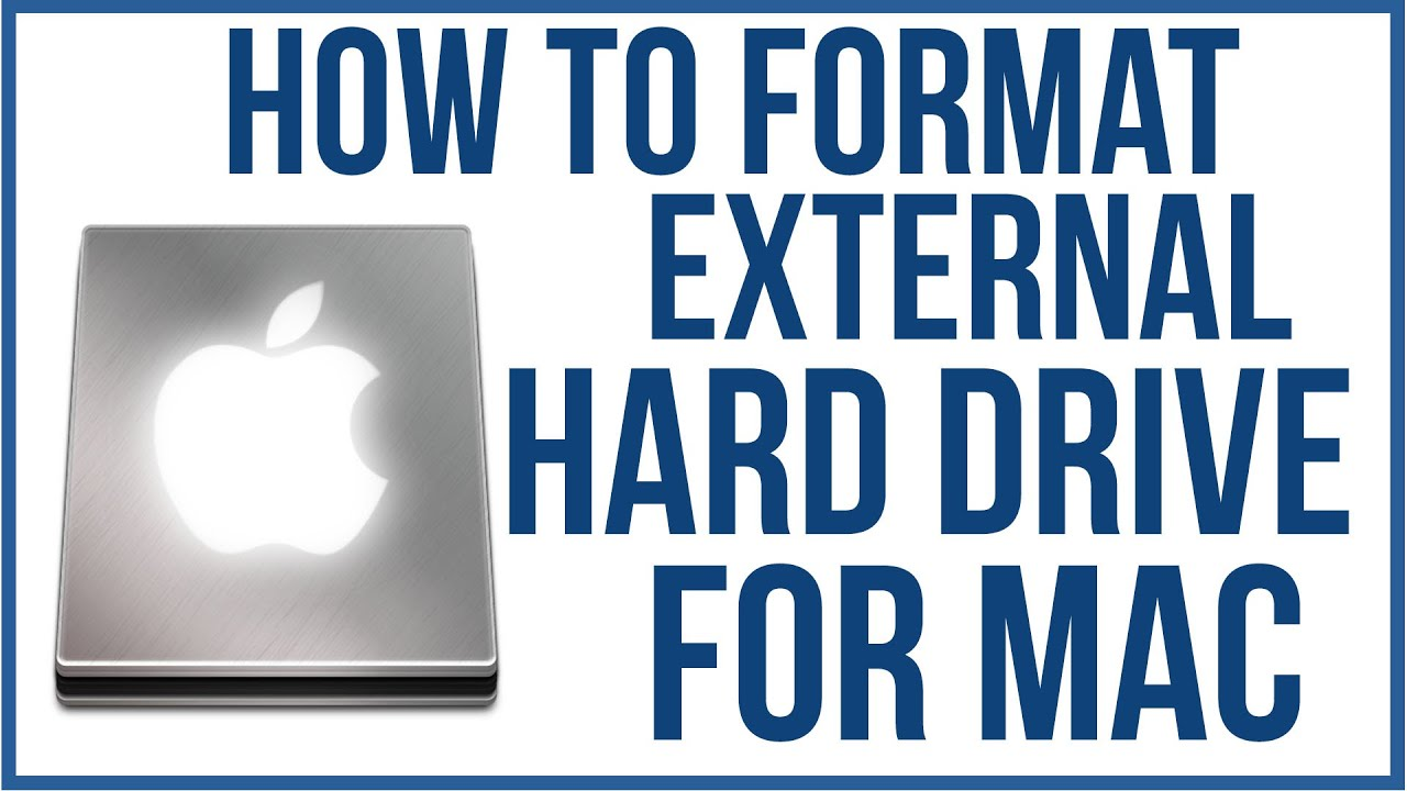 Format A External Hard Drive For Mac