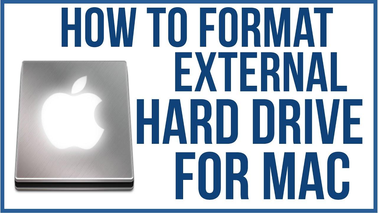 How To Format An External Hard Drive For Mac - Mac ...