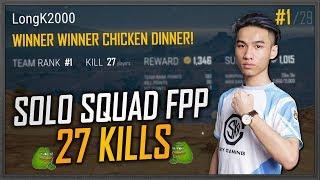 longk solo squad top 1 27 kills fpp ko thch thc top 1 t viewer longk daily stream 18
