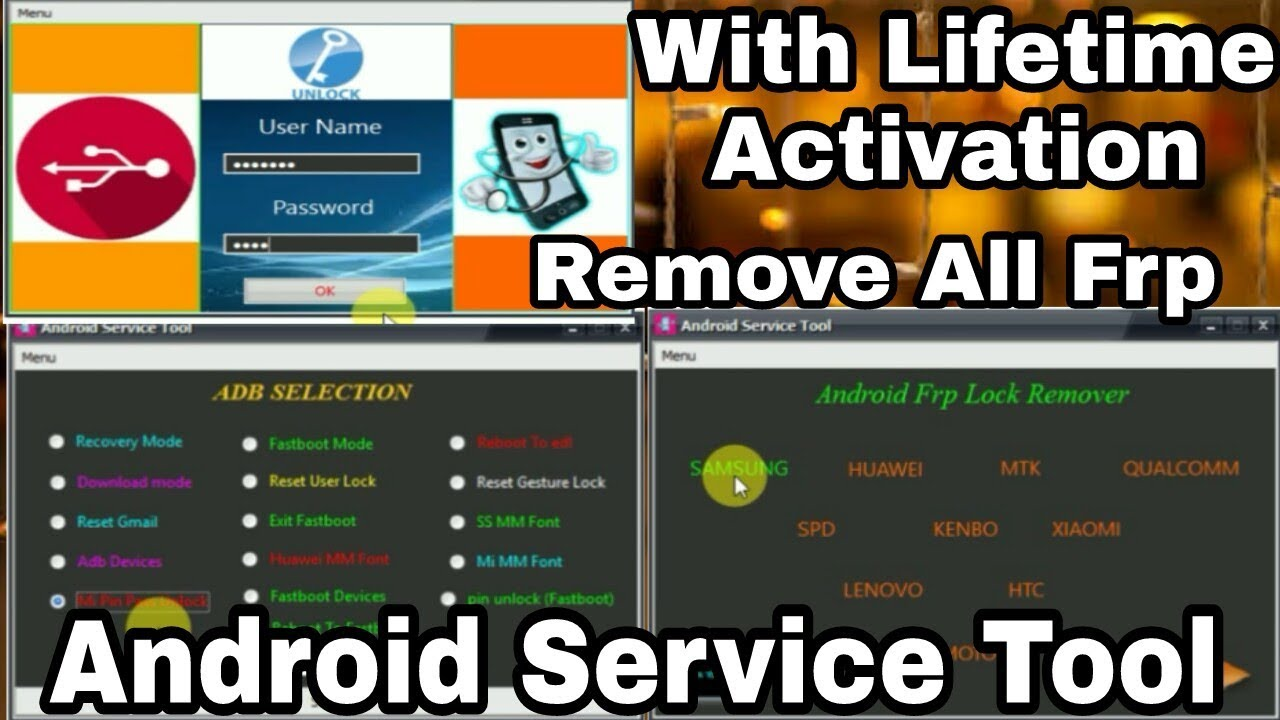 Android Service Tool 2018 | Remove All Android Frp by sahil tech