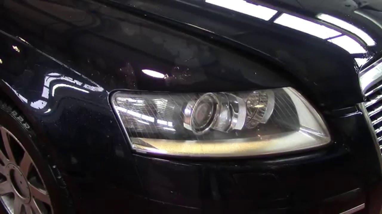замена лампочки габарита audi a6 c6