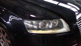 Замена лампы фары Ауди А6 / Replacement lamp headlights AUDI A6
