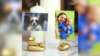 Display Your Favorite Memories WIth These Golden Picture Stands | Crafty