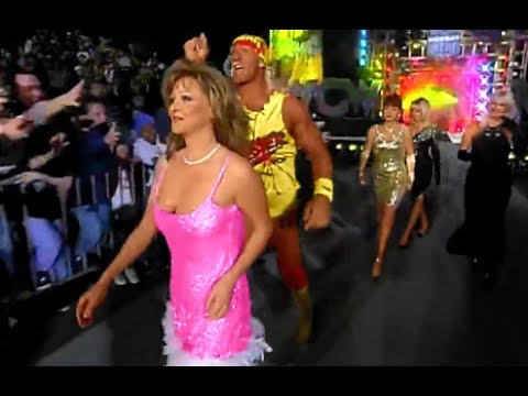 (720pHD): WCW Nitro 01/29/96 - Hulk Hogan (w/Elizabeth, Debra, Woman & Linda) vs. Ric Flair