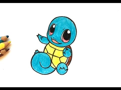 How To Draw Squirtle Kawaii Pokémon