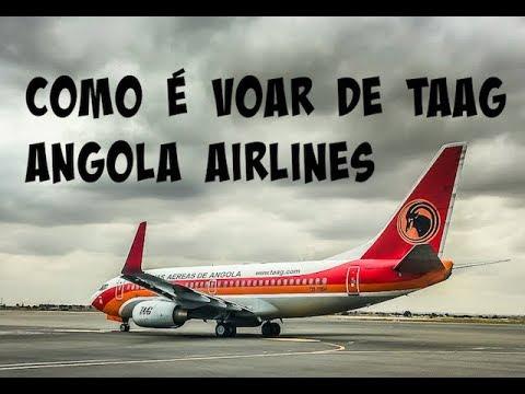 Como é voar de TAAG Angola Airlines para Namíbia