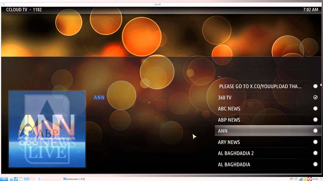 ccloud tv kodi jarvis