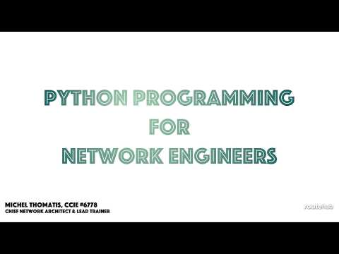 Python Programming for Network Engineers (Preview)