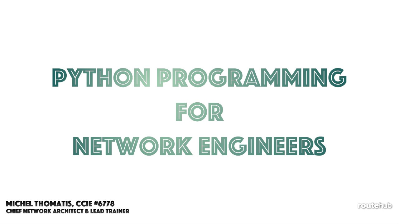 Python programming for network engineers preview youtube python programming for network engineers preview 1betcityfo Choice Image