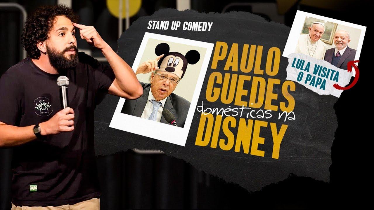 MURILO COUTO - PAULO GUEDES COM AS EMPREGADAS NA DISNEY / LULA E O PAPA