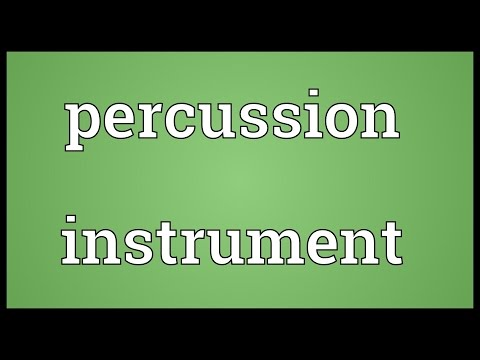 Percussion instrument Meaning
