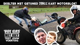 SKELTER MET GETUNED 200CC KART MOTORBLOK | VOL GAS MET JOEY | TEST JOUW VOERTUIG