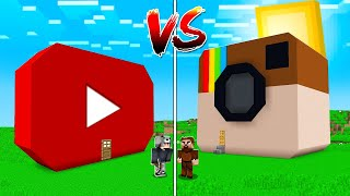 YOUTUBE EV VS İNSTAGRAM EV 😱 - Minecraft