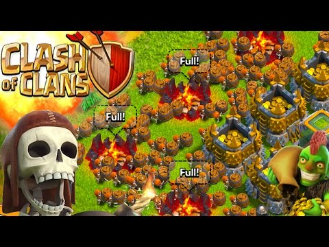 CLASH OF CLANS -ALL WALL BREAKERS! 3 STARRING A VILLAGE! WTF!