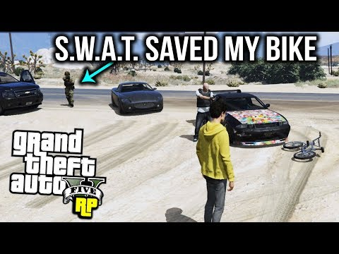 S.W.A.T. SAVES my BIKE! (GTA RP)