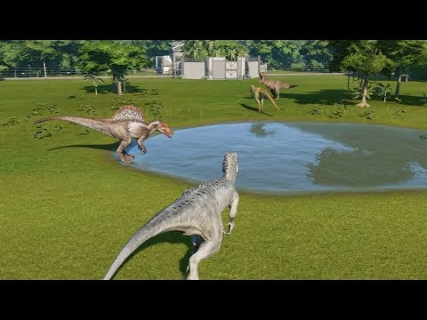 the big 4 i rex vs t rex vs spinosaurus vs giganotosaurus update 1 4
