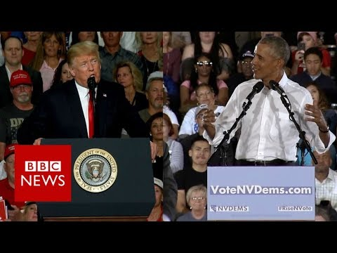 Trump v Obama: Battle of the presidents - BBC News