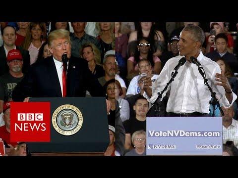 Trump v Obama: Battle of the presidents - BBC News