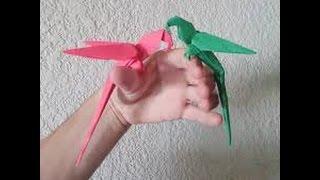 simple origami parrot turorial