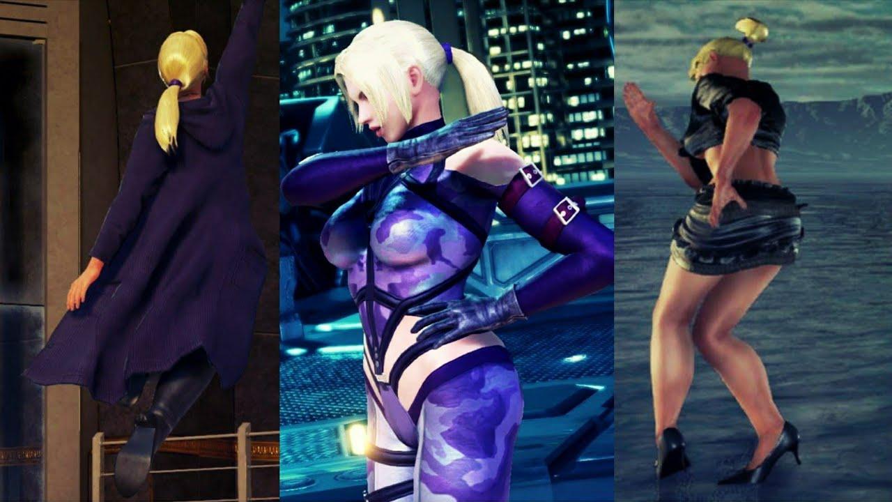 Tekken 7 Nina Unlockable Costumes Showcase Youtube