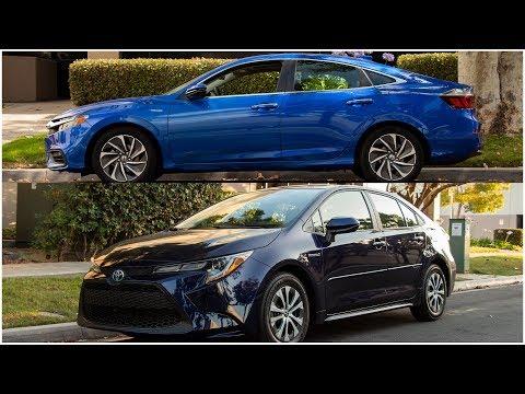 2020 Toyota Corolla Hybrid vs. Honda Insight Comparison Review
