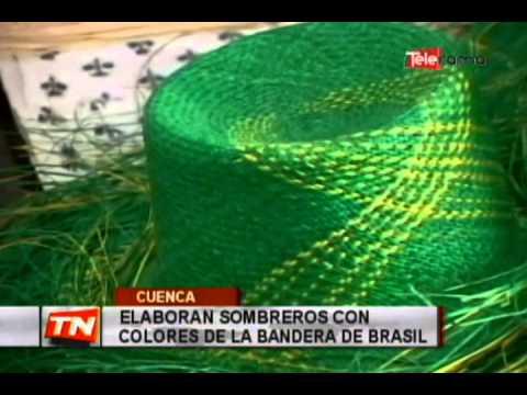 Elaboran sombreros con colores de la bandera de Brasil