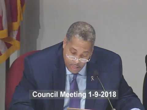 Council Meeting January 9, 2018